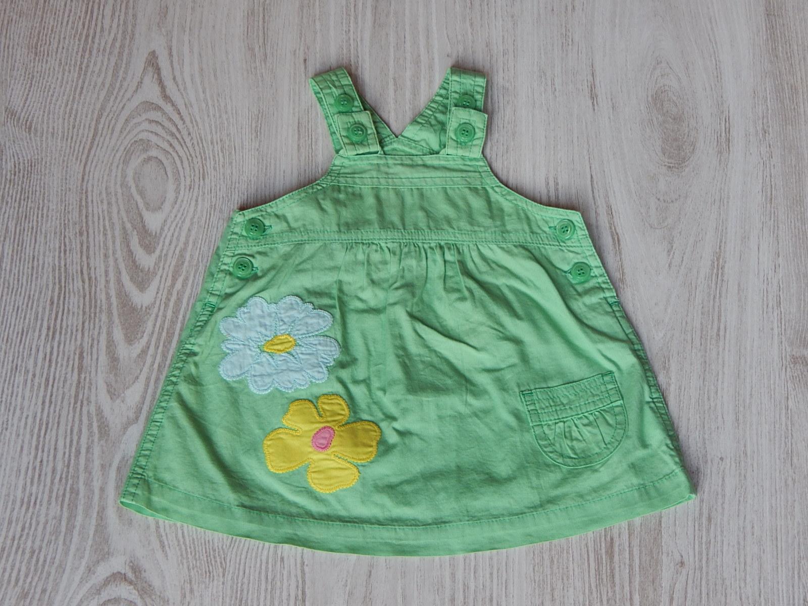 15d9cd978d Zöld virágos ruha [62 (0-3 hó) / Lány ruhák] :: Lótusz Gyerekruha ...