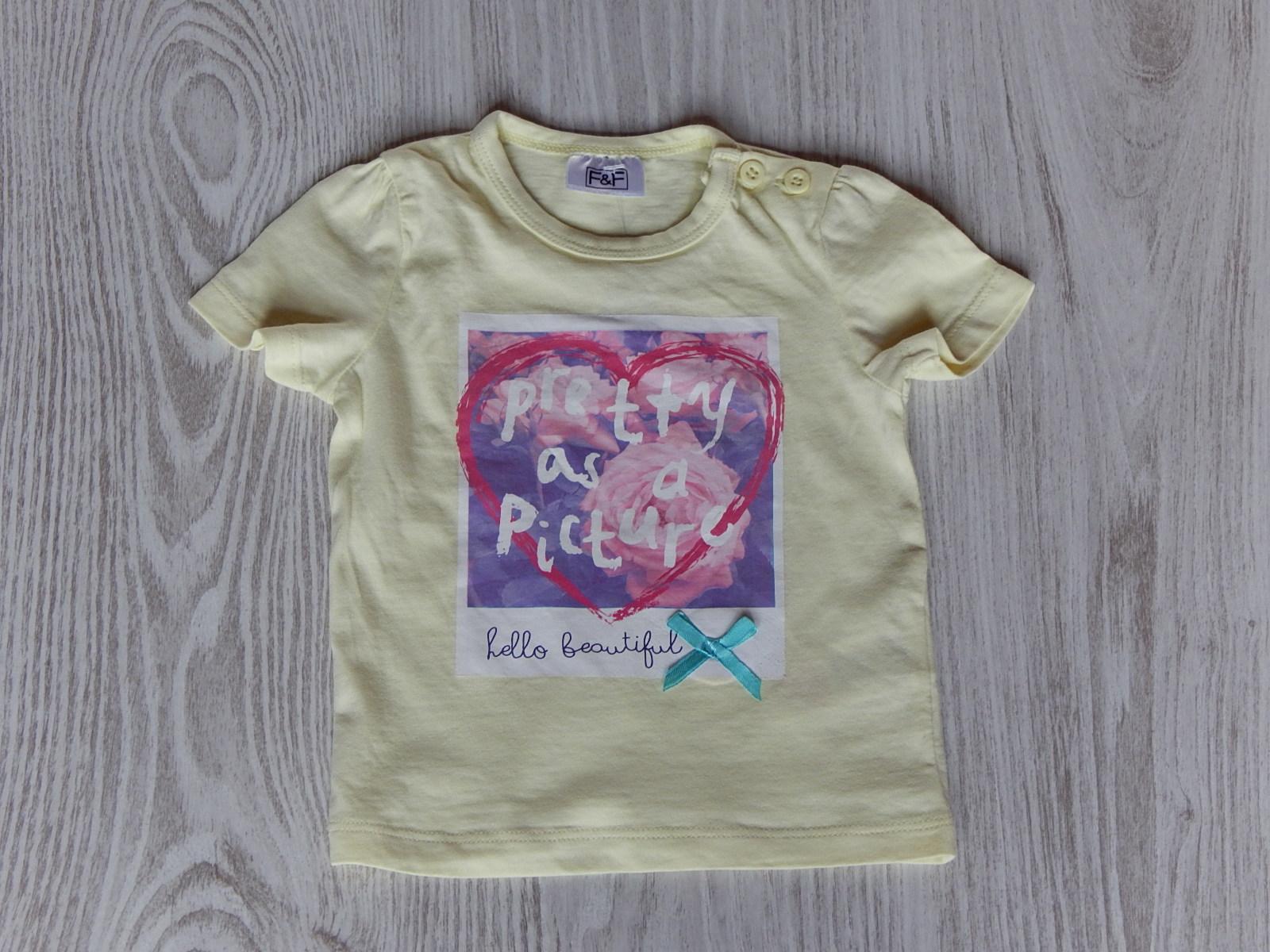 27359f72fa Sárga szíves póló [62 (0-3 hó) / Lány ruhák] :: Lótusz Gyerekruha ...