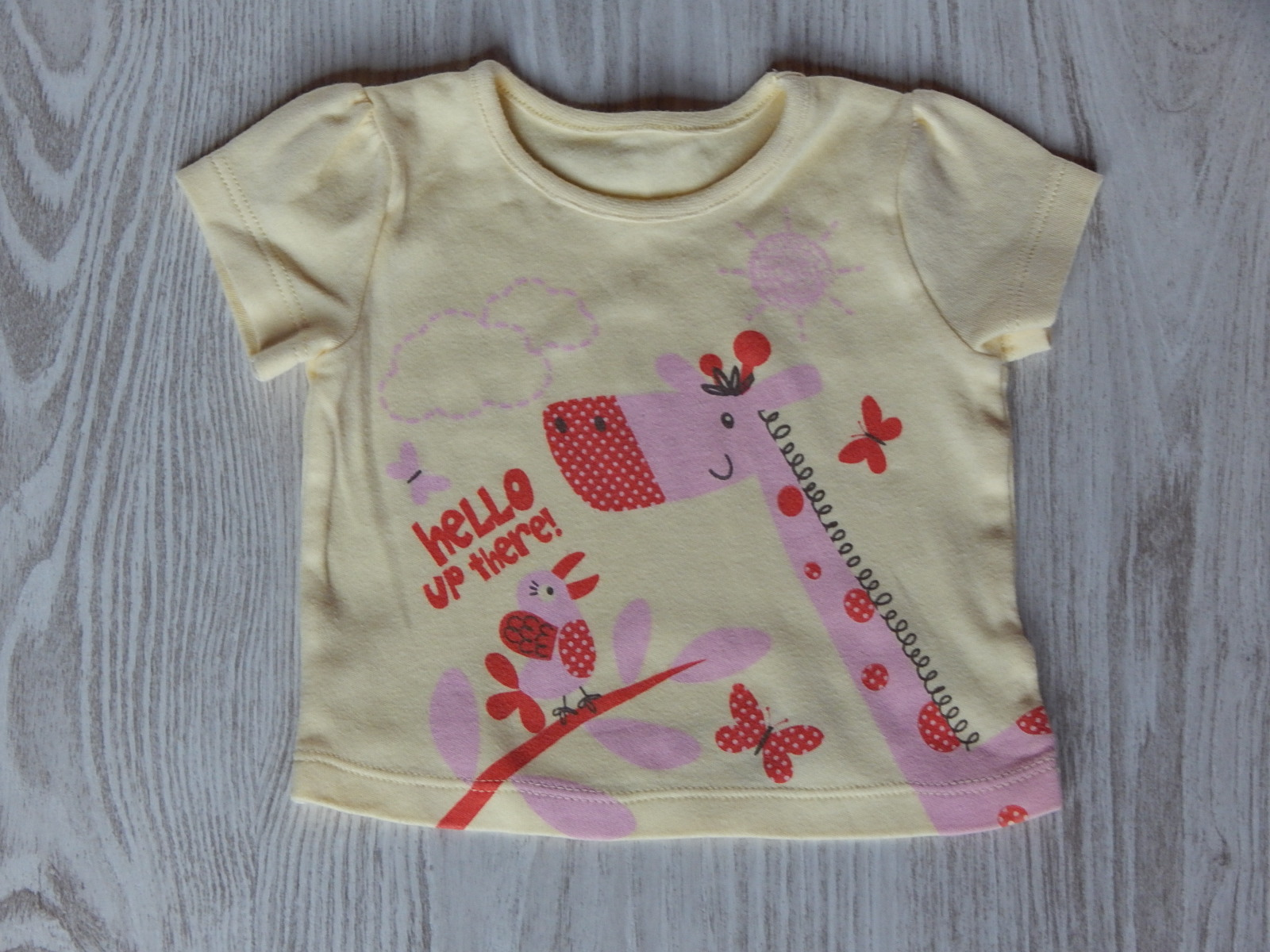 4491d22741 Sárga zsiráfos póló [62 (0-3 hó) / Lány ruhák] :: Lótusz Gyerekruha ...