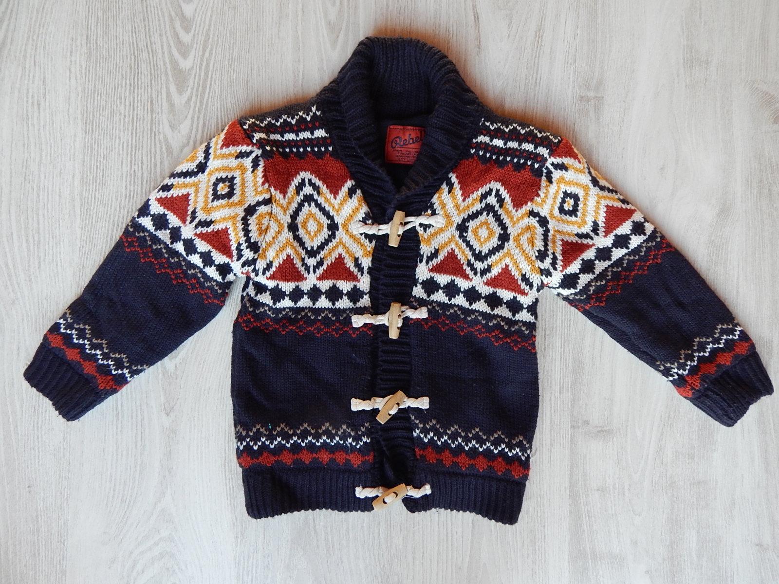 9b2349d940 Mintás vastag kötött kardigán-kabát [122 (7 év) / Fiú ruhák ...
