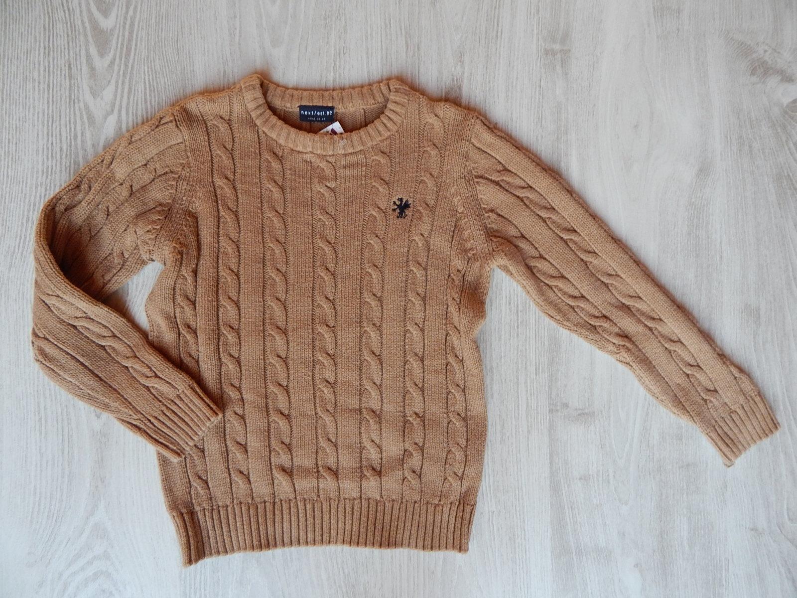 Next világos barna kötött pulcsi  122 (7 év)   Fiú ruhák     Lótusz ... 847484a35a