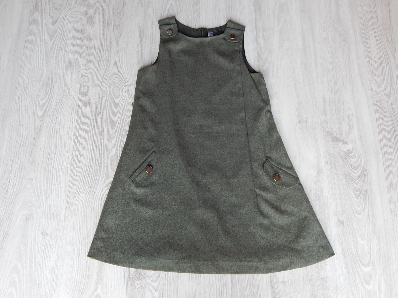 a7b7340bd9 Zöld Zara szövetruha [158-164 (13-14 év) / Lány ruhák] :: Lótusz ...