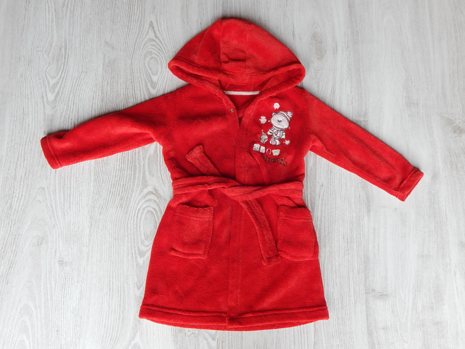 723ac4df00 Piros puha köntös [92 (18-24 hó) / Lány ruhák] :: Lótusz Gyerekruha ...