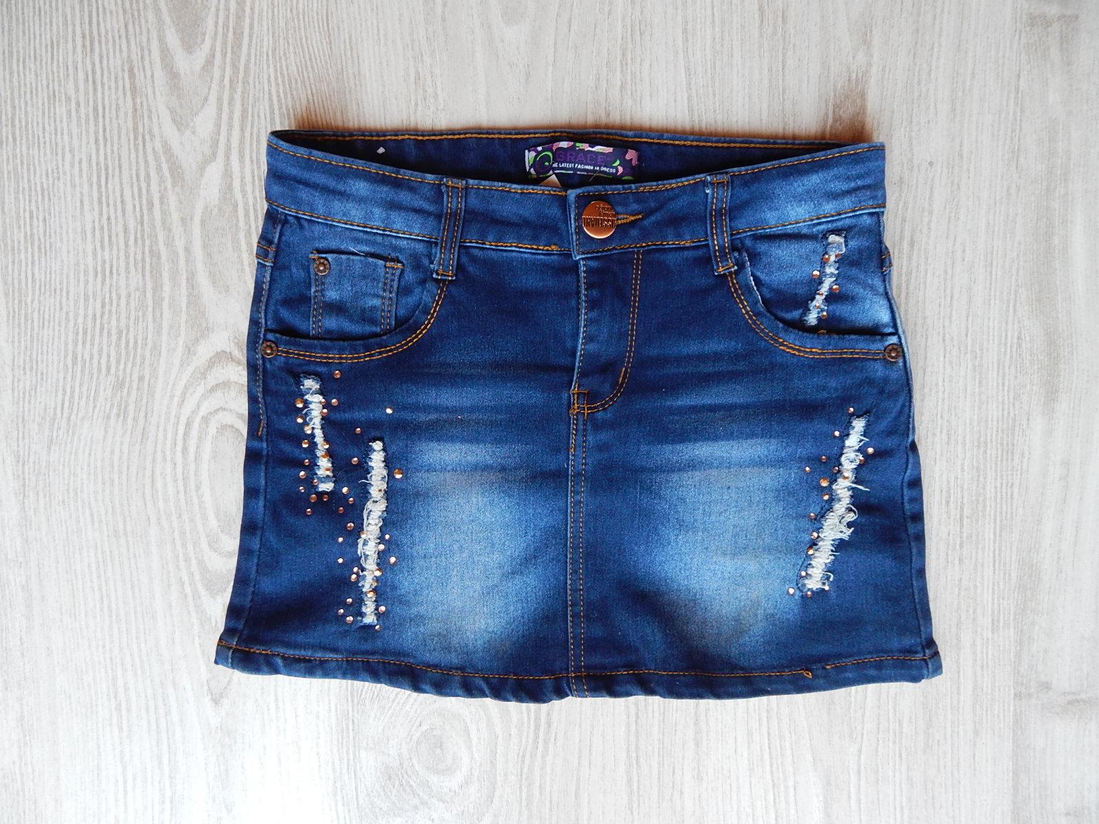 Termékek · Lány ruhák · 158-164 (13-14 év) · Strasszos koptatott szoknya 22a0f2e22b