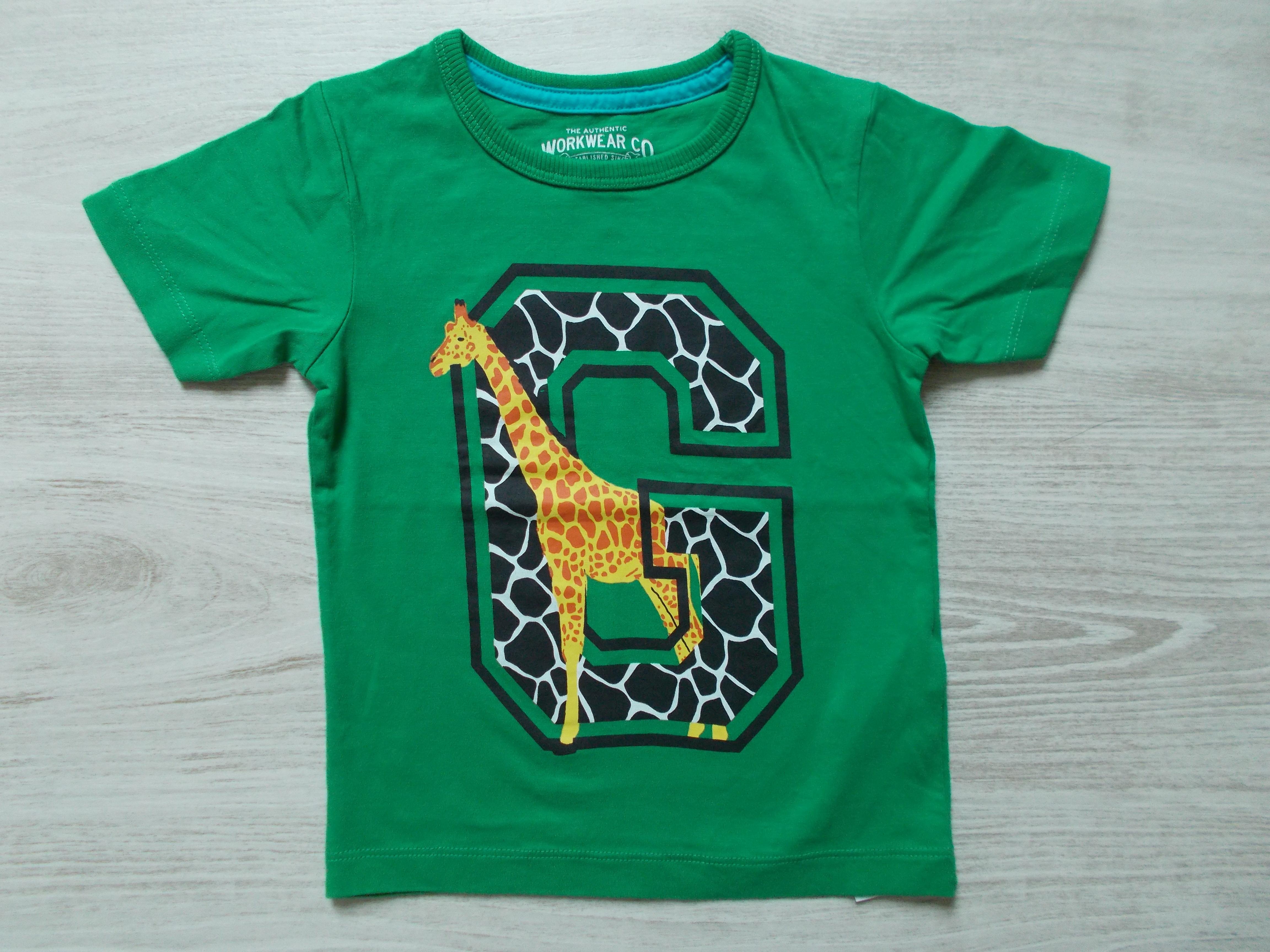 2210fe79f9 Zöld zsiráfos póló [92 (18-24 hó) / Lány ruhák] :: Lótusz Gyerekruha ...